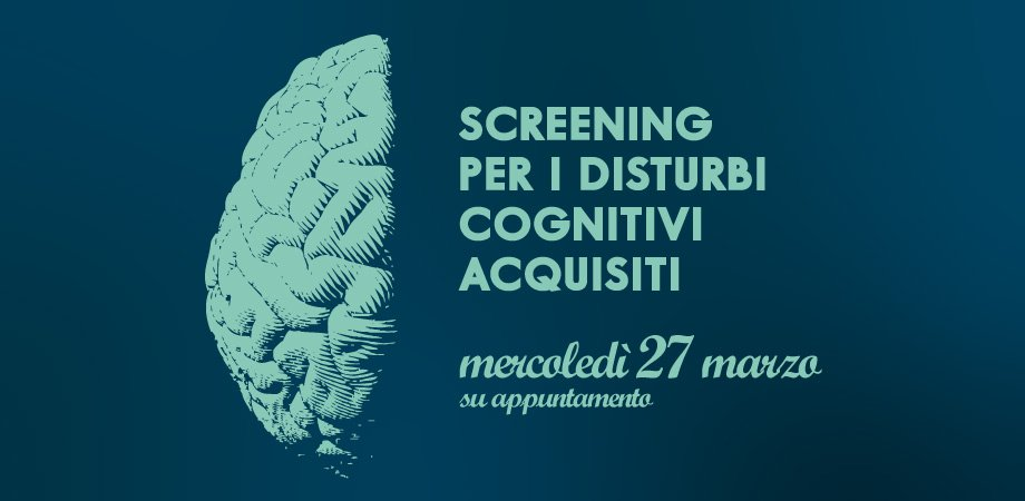 Screening gratuito disturbi cognitivi